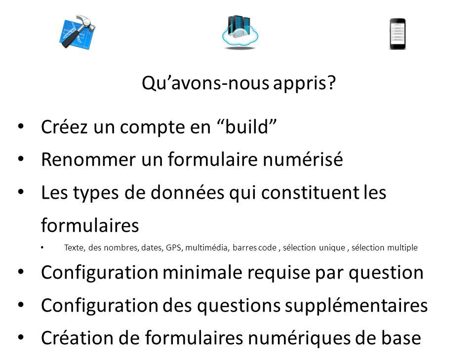 Créez un compte en build Renommer un formulaire numérisé