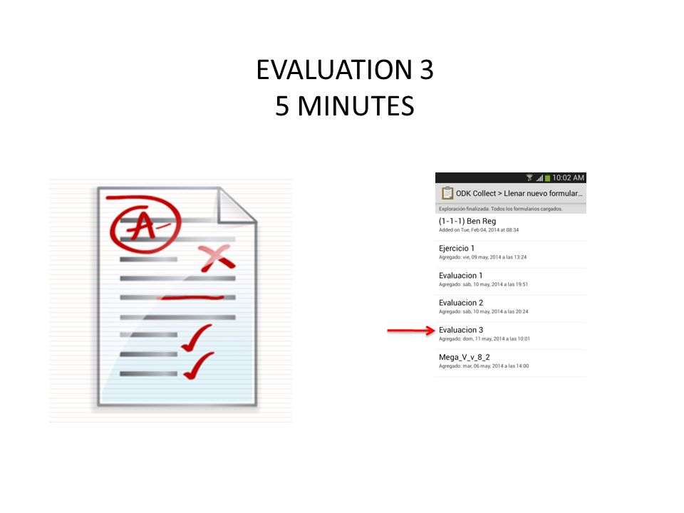 EVALUATION 3 5 MINUTES
