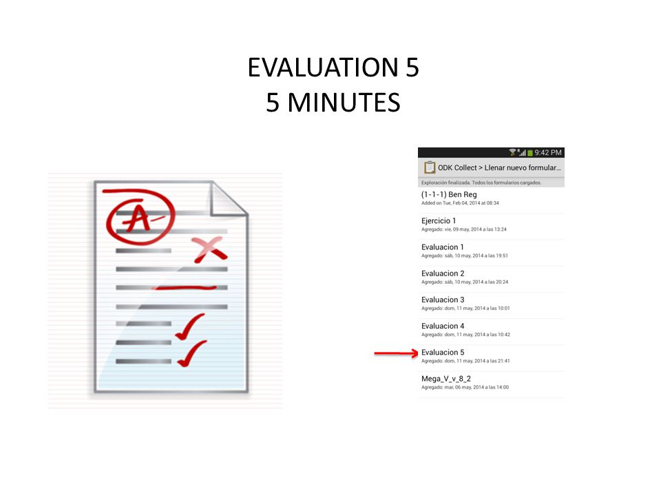 EVALUATION 5 5 MINUTES