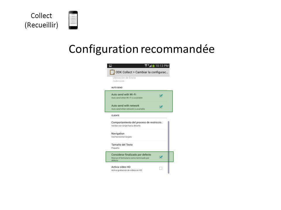 Configuration recommandée