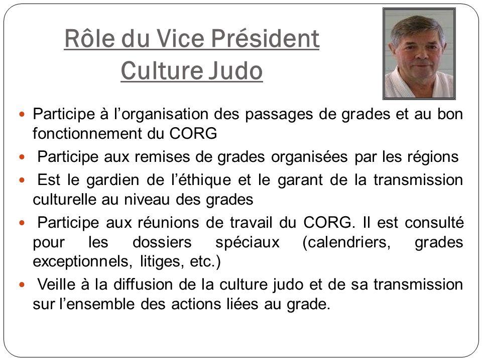 Rôle du Vice Président Culture Judo