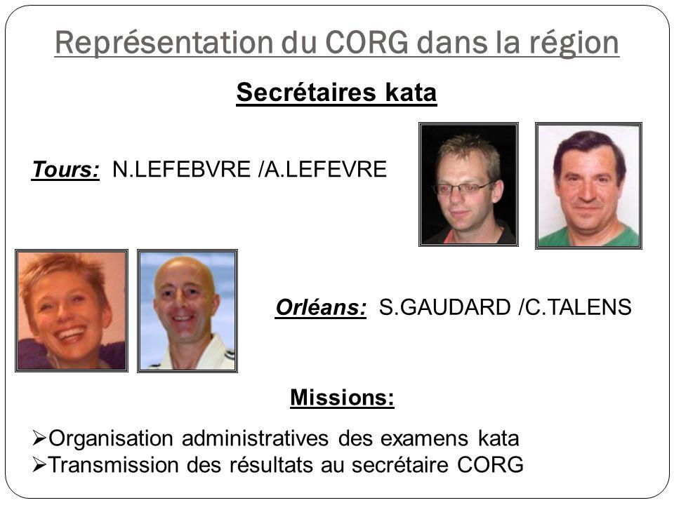 Représentation du CORG dans la région