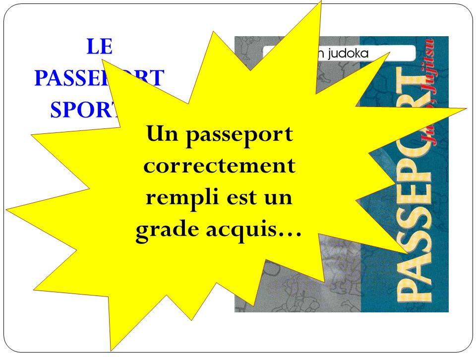 Un passeport correctement rempli est un grade acquis…
