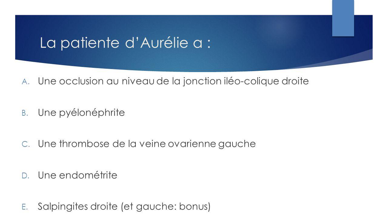 La patiente d'Aurélie a :