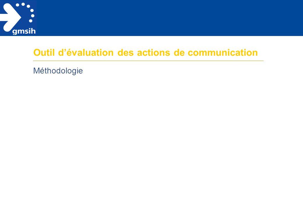 Outil d'évaluation des actions de communication