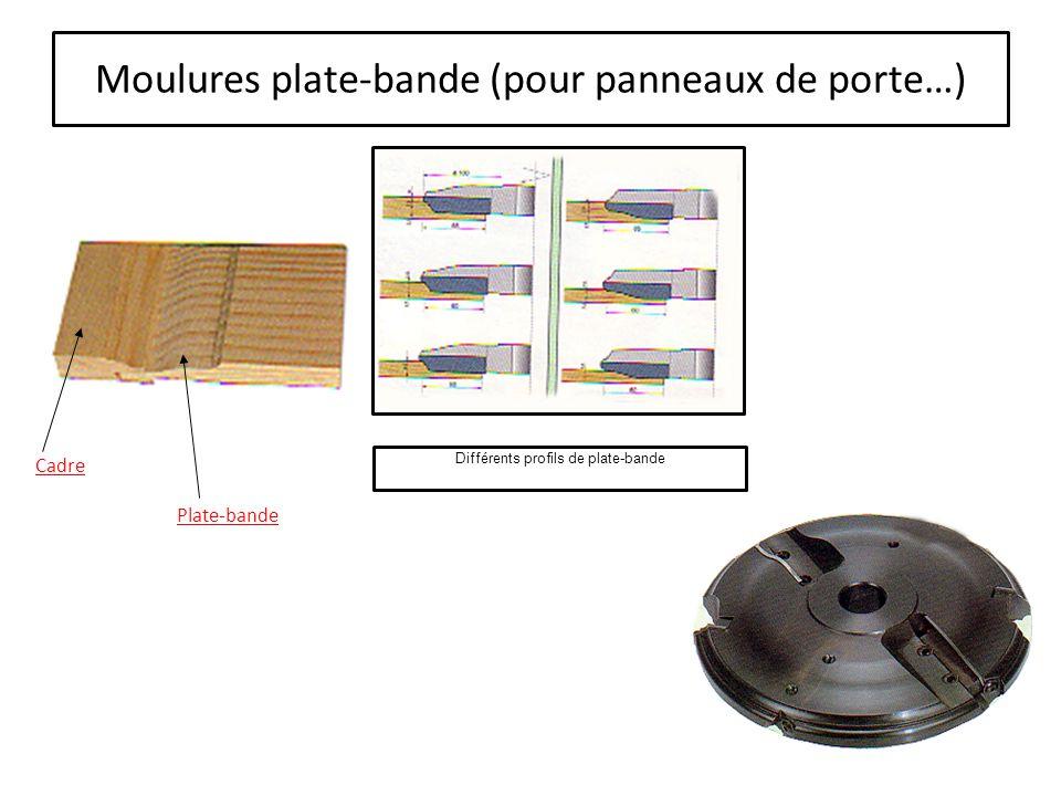 Moulures plate-bande (pour panneaux de porte…)