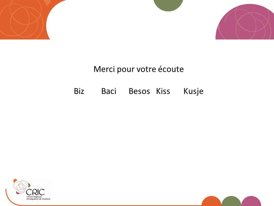 Merci pour votre écoute Biz Baci Besos Kiss Kusje
