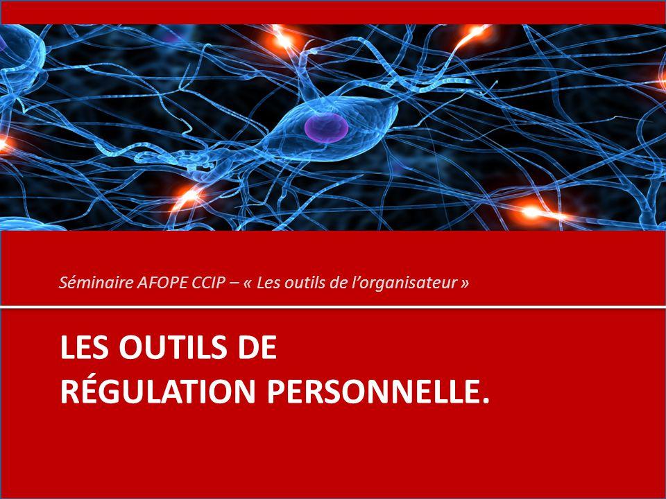 Les outils de régulation personnelle.