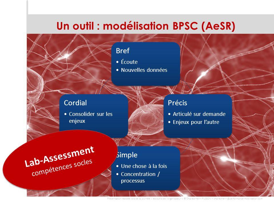 Un outil : modélisation BPSC (AeSR)
