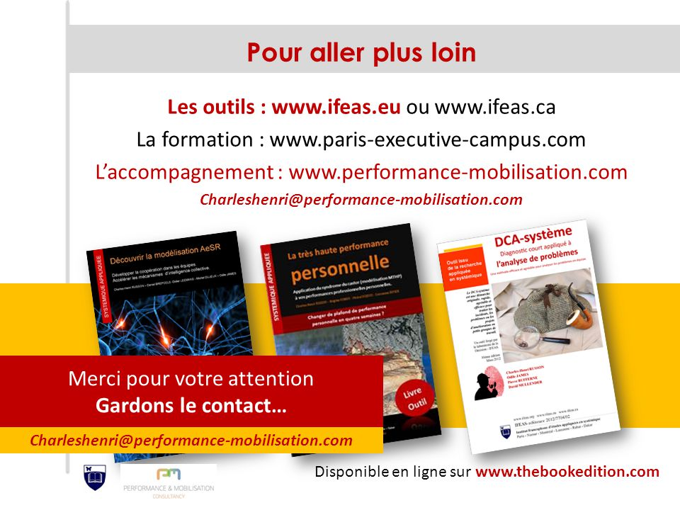 Pour aller plus loin Les outils : www.ifeas.eu ou www.ifeas.ca