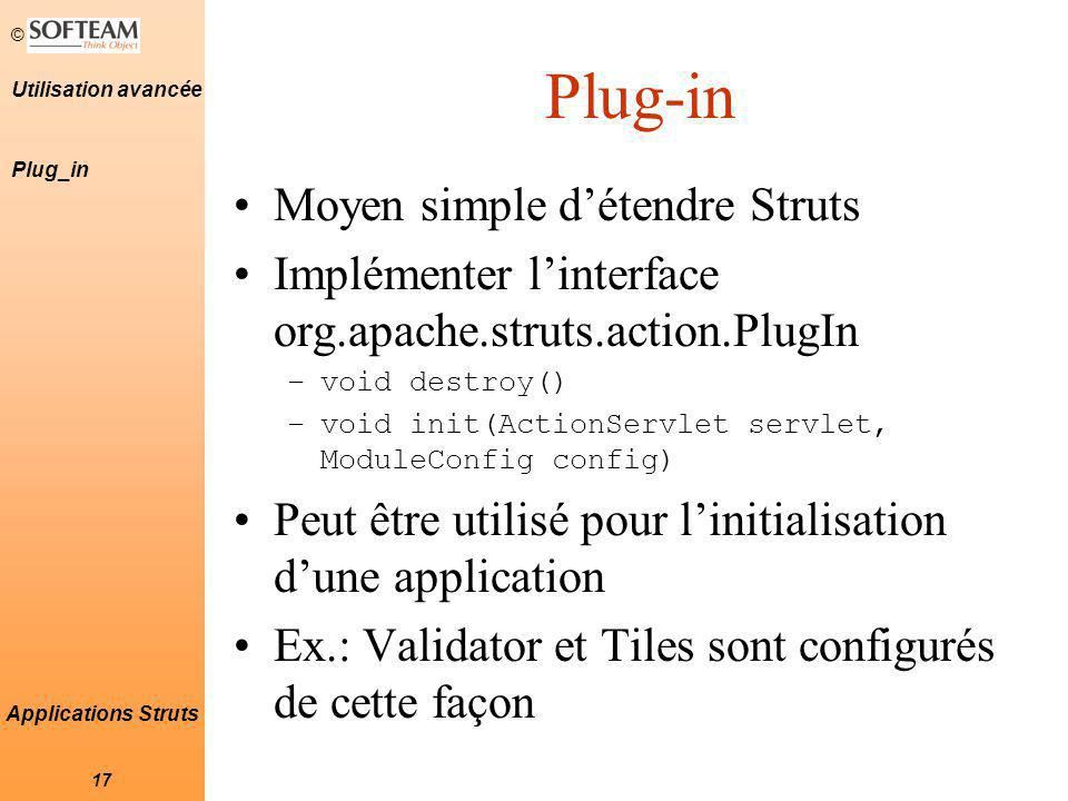 Plug-in Moyen simple d'étendre Struts