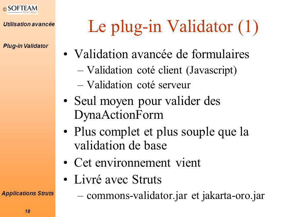 Le plug-in Validator (1)