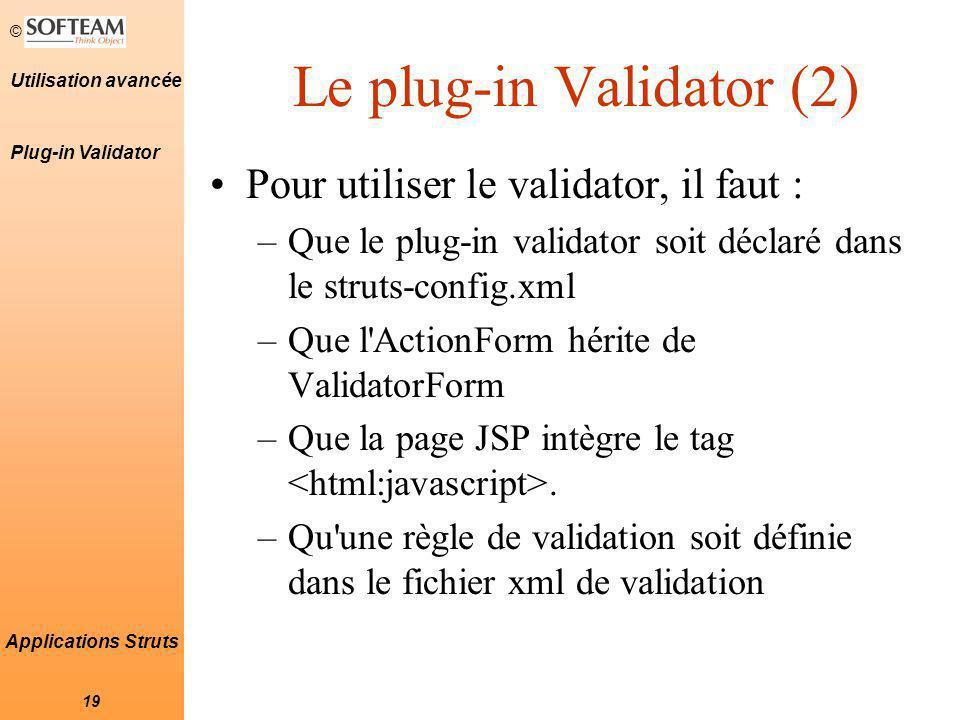 Le plug-in Validator (2)