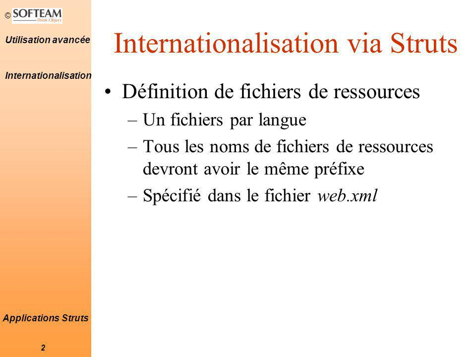 Internationalisation via Struts