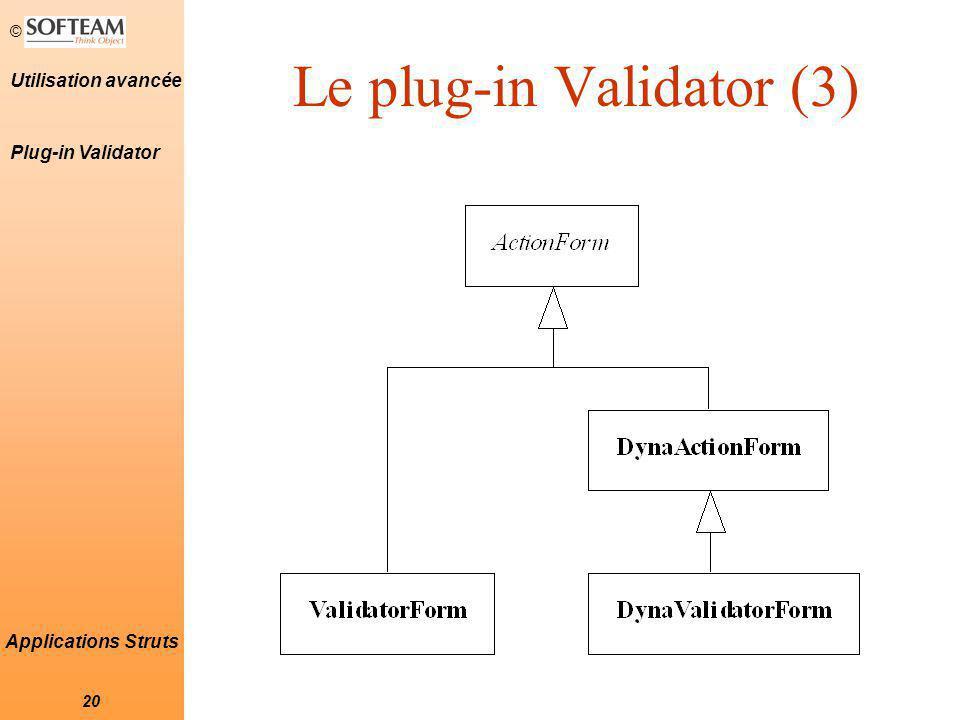 Le plug-in Validator (3)