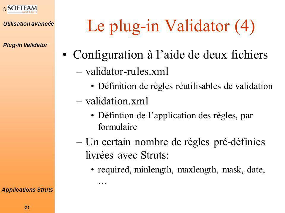 Le plug-in Validator (4)