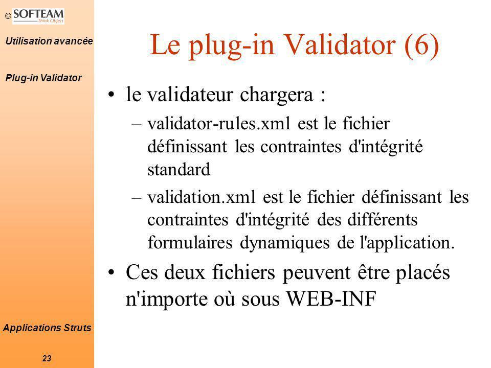 Le plug-in Validator (6)