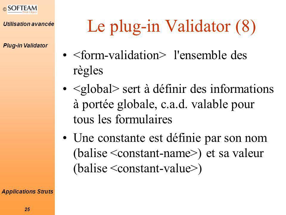 Le plug-in Validator (8)