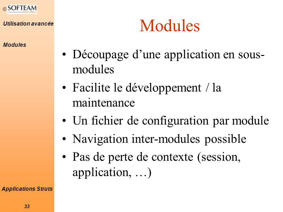 Modules Découpage d'une application en sous-modules