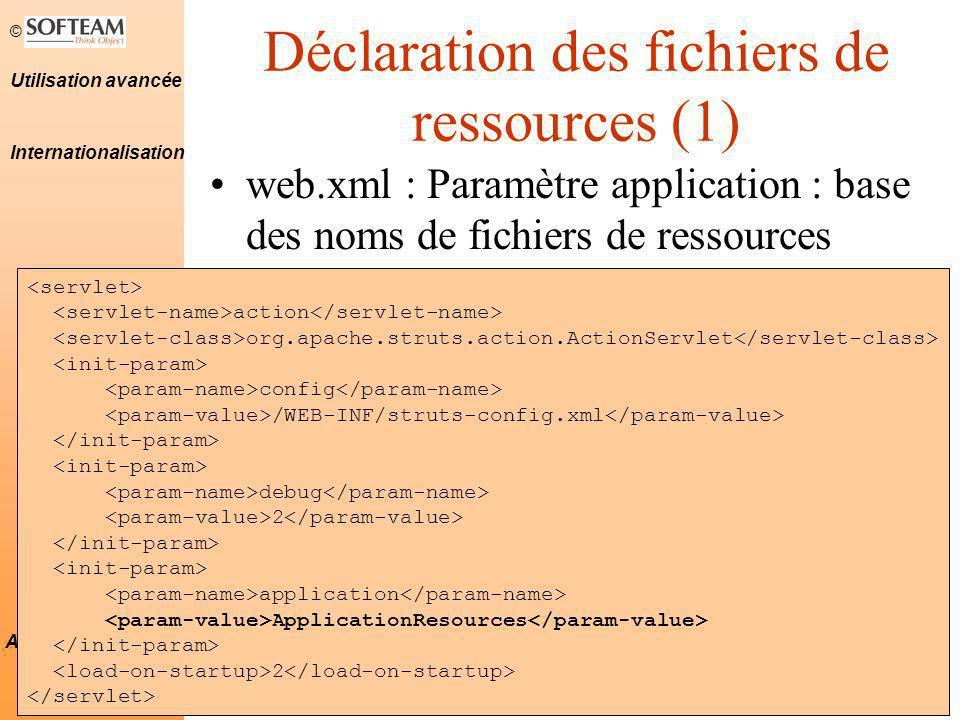 Déclaration des fichiers de ressources (1)