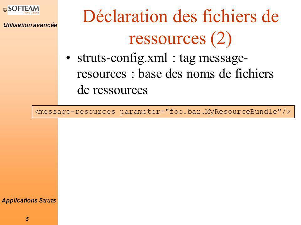 Déclaration des fichiers de ressources (2)