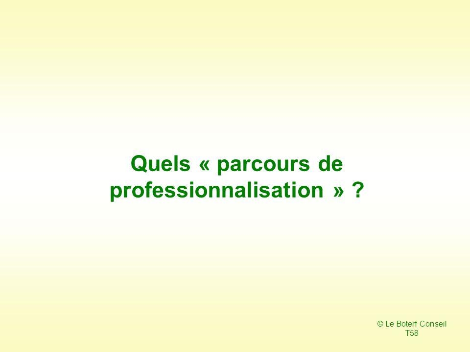Quels « parcours de professionnalisation »