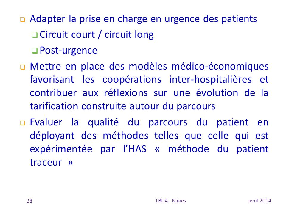 Adapter la prise en charge en urgence des patients