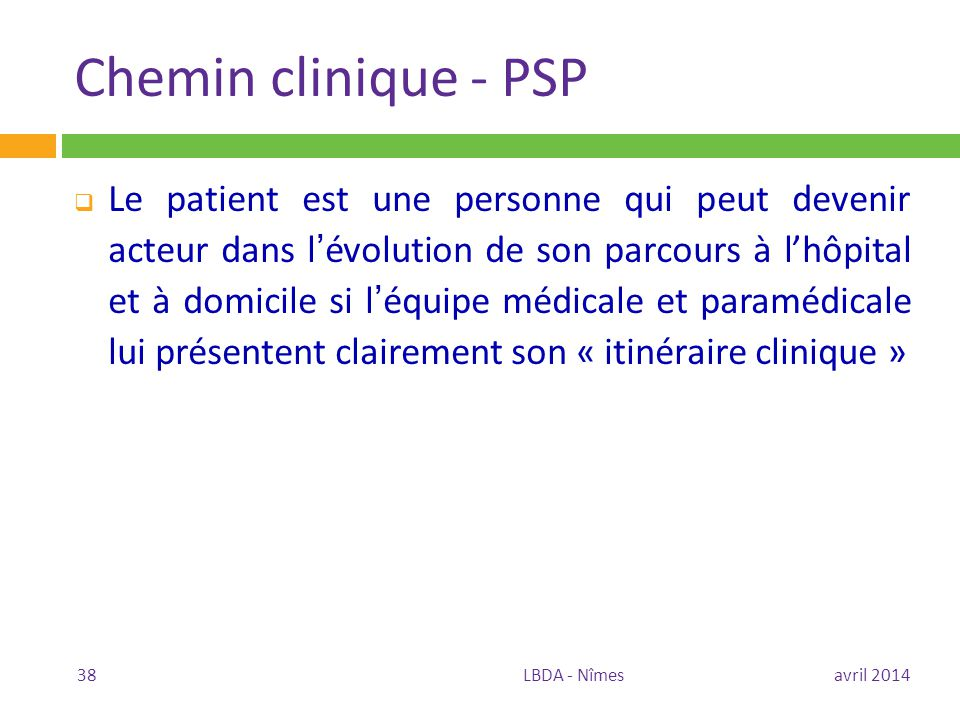 Chemin clinique - PSP
