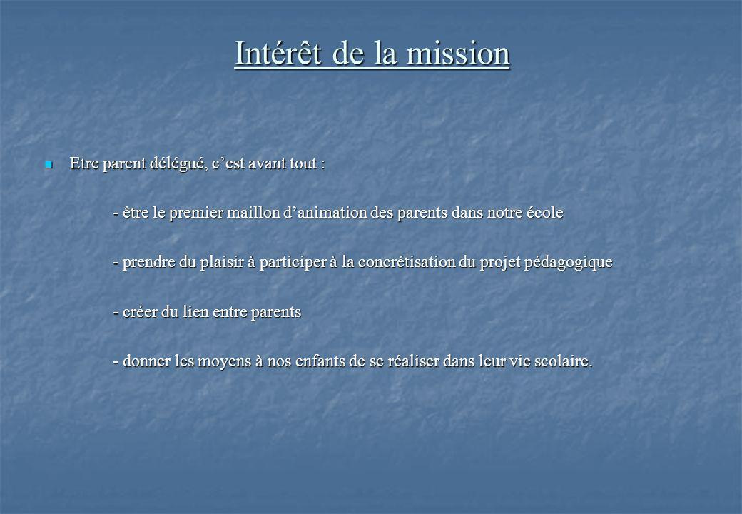 Intérêt de la mission Etre parent délégué, c'est avant tout :