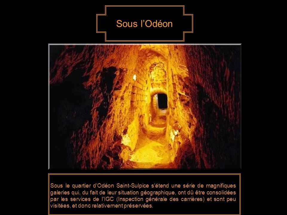 Sous l'Odéon