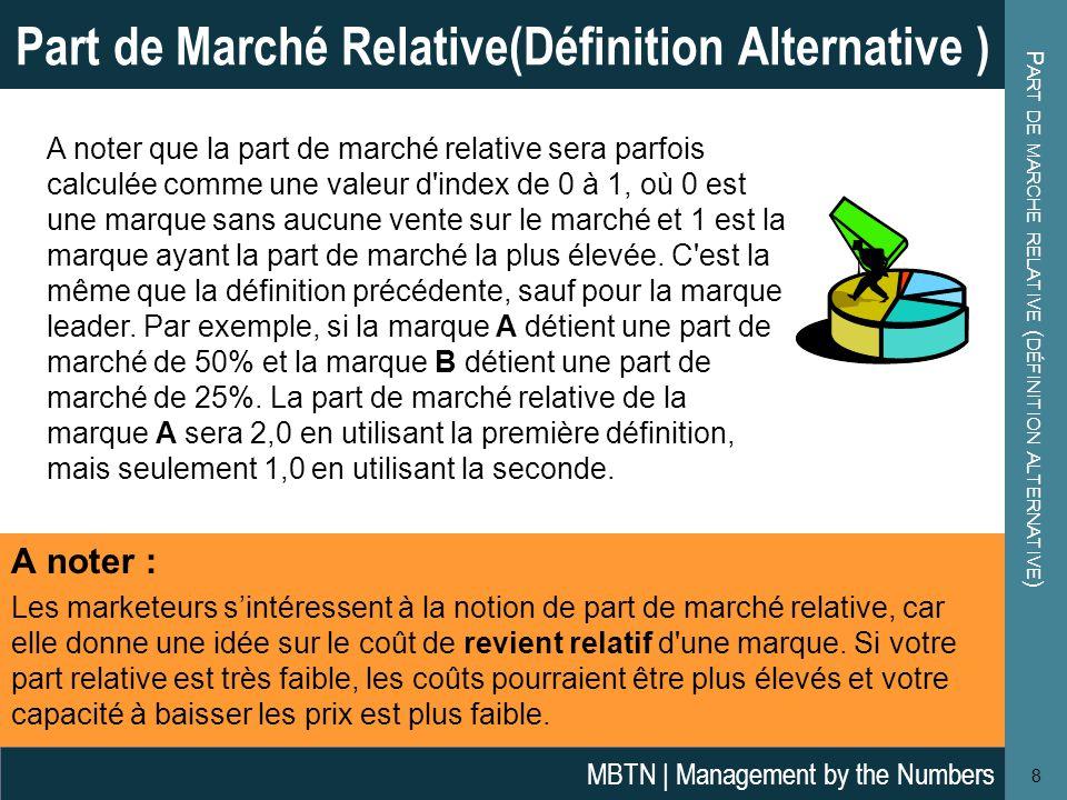 Part de marche relative (définition alternative)