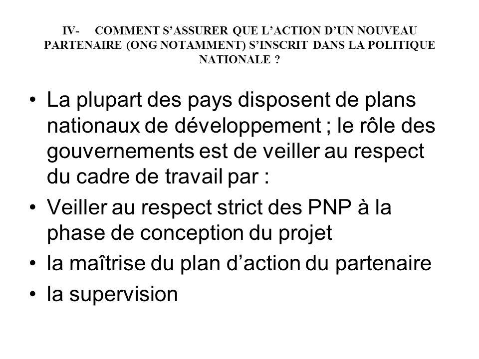 Veiller au respect strict des PNP à la phase de conception du projet
