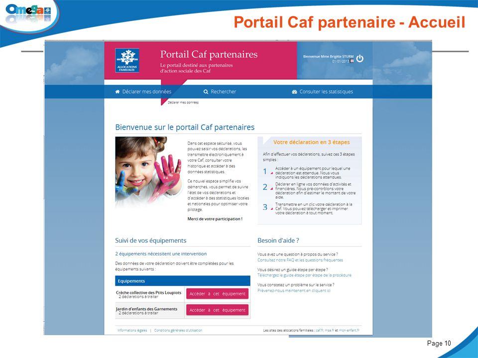 Portail Caf partenaire - Accueil