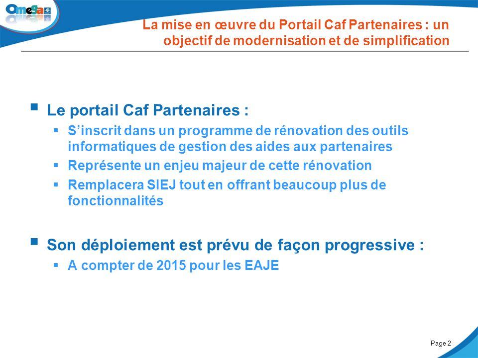 Le portail Caf Partenaires :