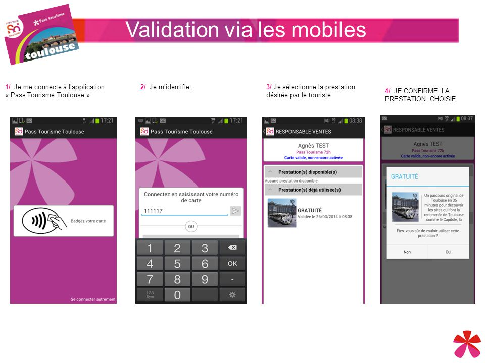Validation via les mobiles