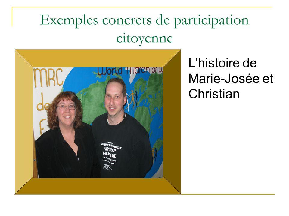 Exemples concrets de participation citoyenne
