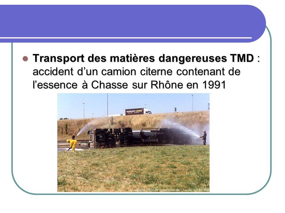 Transport des matières dangereuses TMD : accident d'un camion citerne contenant de l'essence à Chasse sur Rhône en 1991