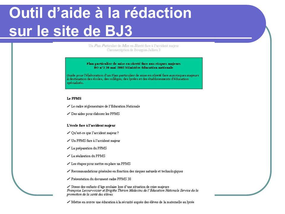 Outil d'aide à la rédaction sur le site de BJ3