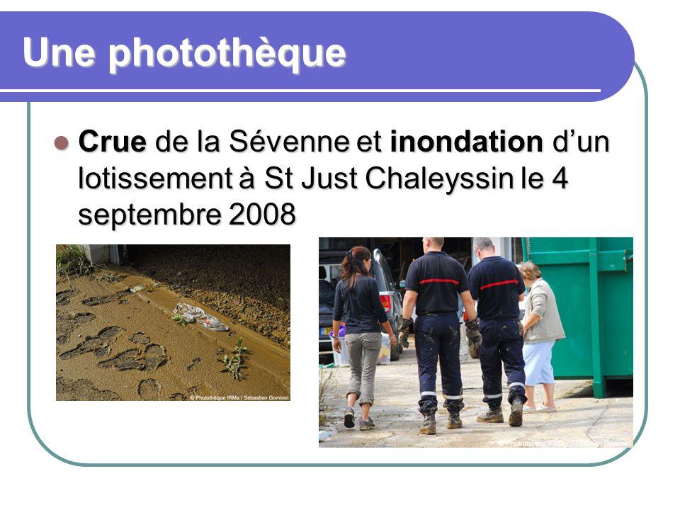 Une photothèque Crue de la Sévenne et inondation d'un lotissement à St Just Chaleyssin le 4 septembre 2008.
