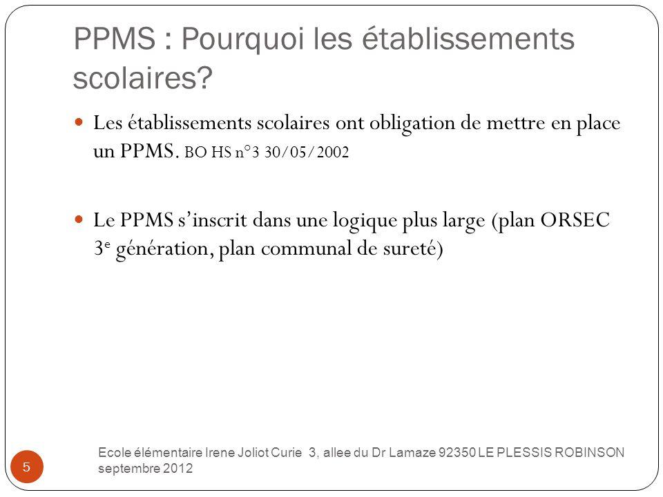 PPMS : Pourquoi les établissements scolaires