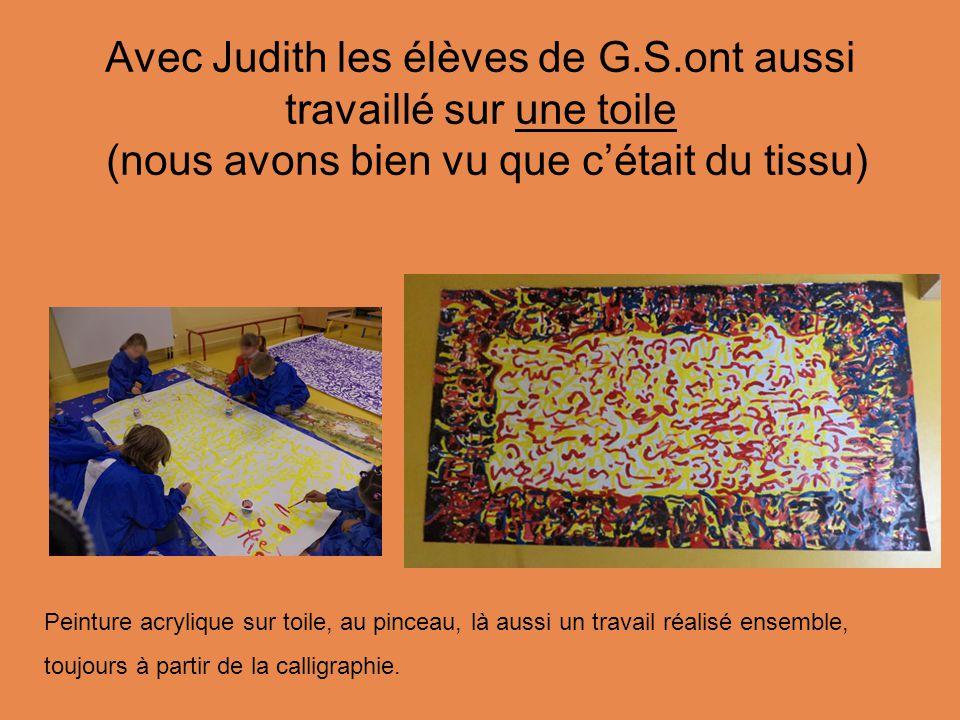 Avec Judith les élèves de G. S
