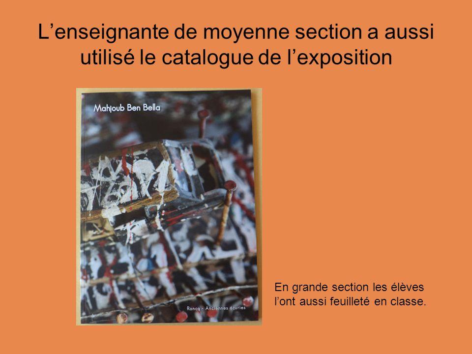 L'enseignante de moyenne section a aussi utilisé le catalogue de l'exposition