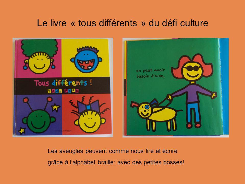 Le livre « tous différents » du défi culture