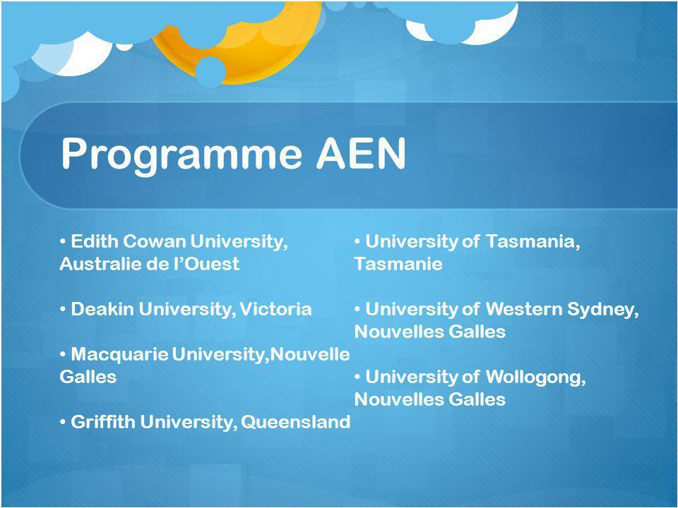 Programme AEN Edith Cowan University, Australie de l'Ouest