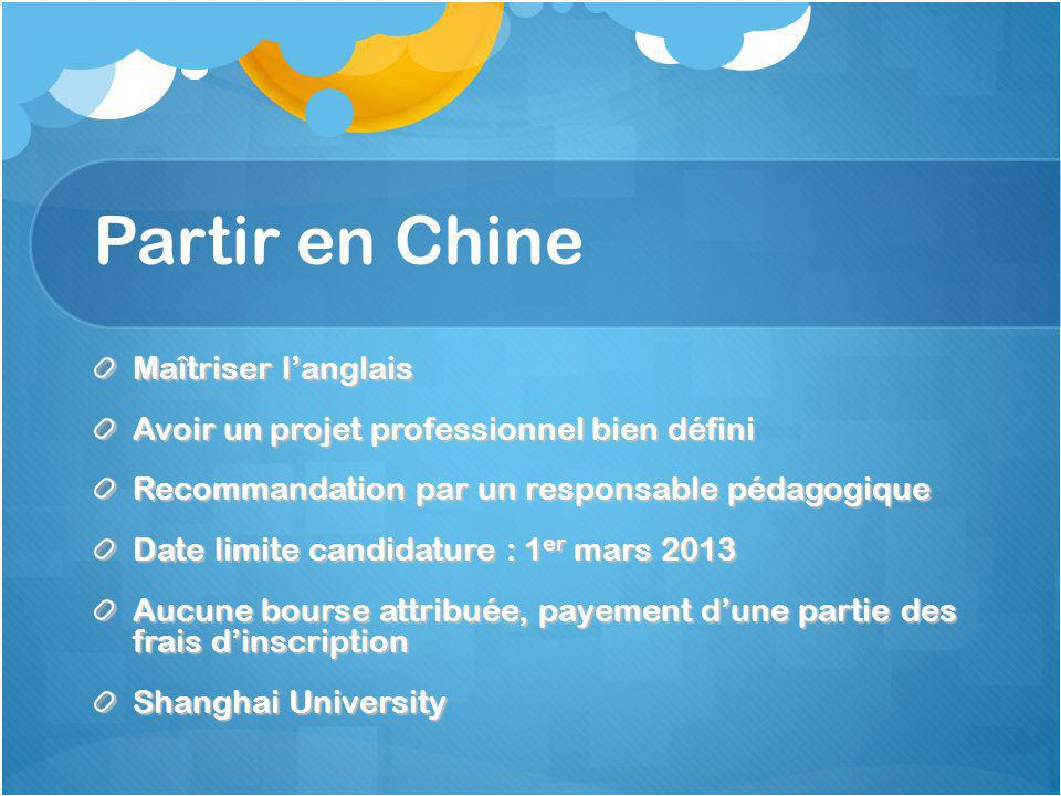 Partir en Chine Maîtriser l'anglais