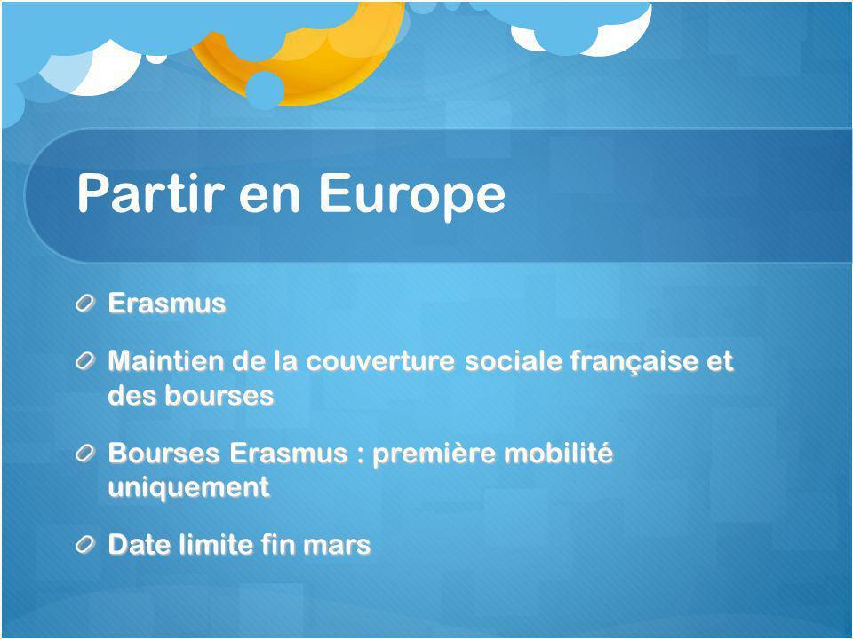 Partir en Europe Erasmus