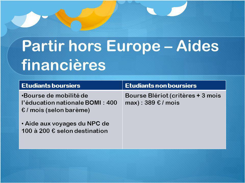 Partir hors Europe – Aides financières