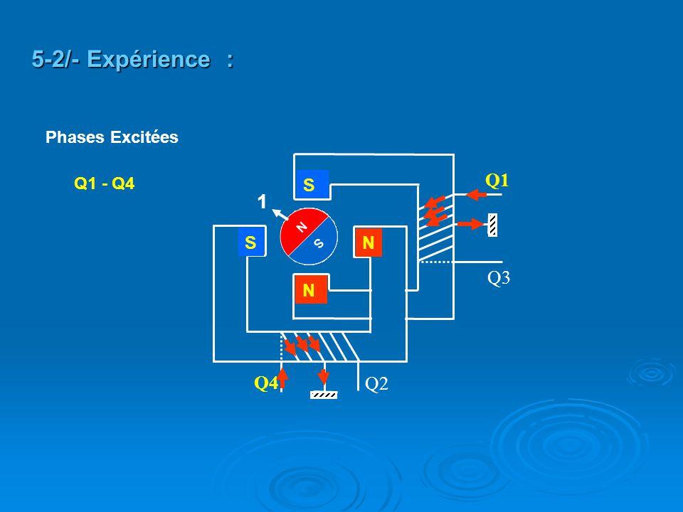 5-2/- Expérience : Phases Excitées Q2 Q4 Q3 Q1 Q1 - Q4 S 1 S N N