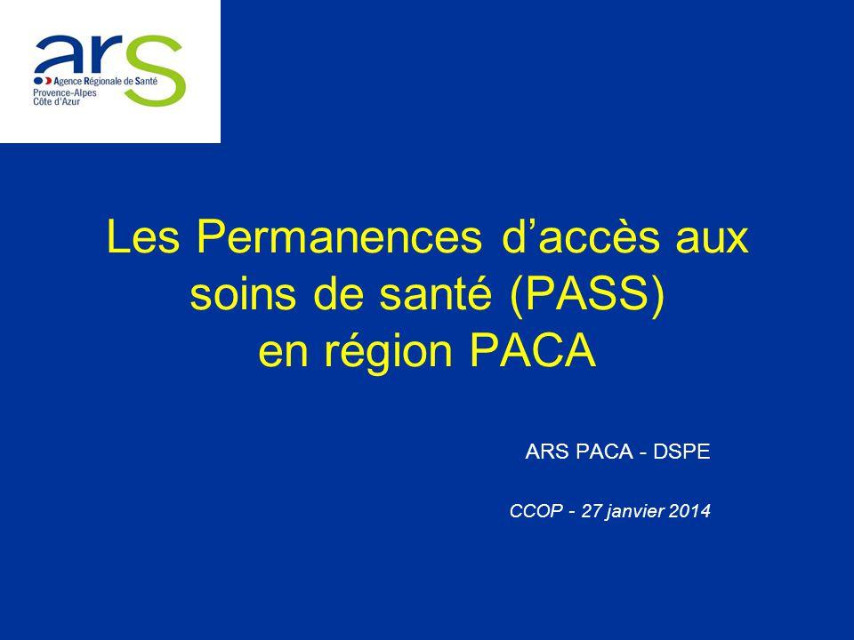 Les Permanences d'accès aux soins de santé (PASS) en région PACA