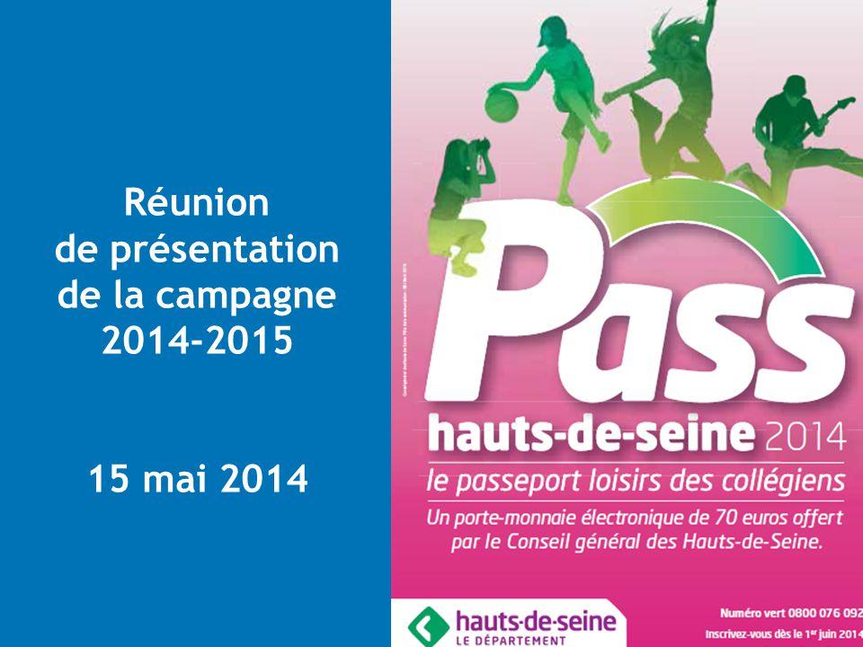 Réunion de présentation de la campagne 2014-2015